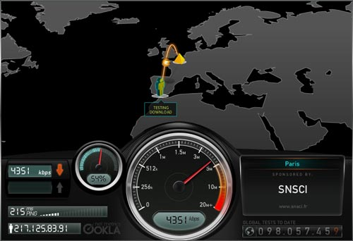 Global broadband speed test