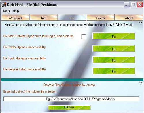 Disk Heal