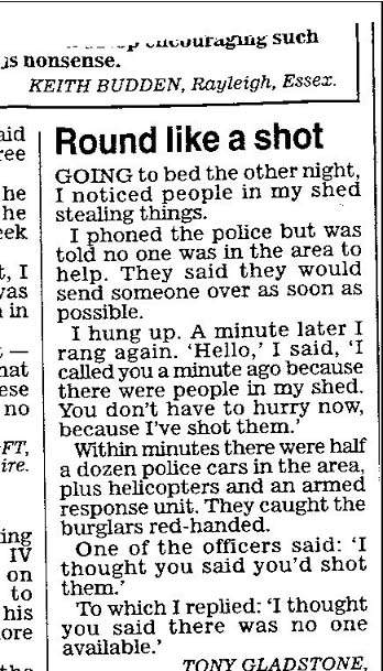 Robber Shot…
